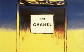 Chanel No. 5 Perfume (Blue/Yellow) by Andy Warhol