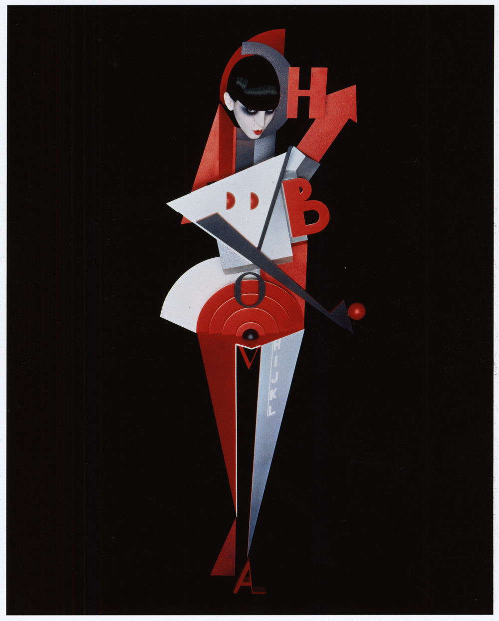 serge lutens Composition Lettriste Noir Rouge and Blanc Louise 1989